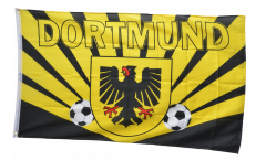 Flagge Fanflagge Dortmund Strahlen