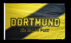 Flagge Fanflagge Dortmund Streifen - Die Nr.1 im Pott