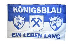 Flagge Fanflagge Gelsenkirchen - Königsblau ein Leben lang