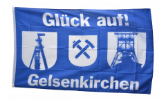 Flagge Fanflagge Gelsenkirchen Förderturme