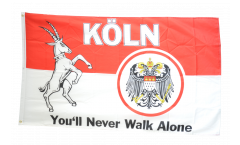 Flagge Fanflagge Köln You'll never walk alone