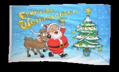 Flagge Fröhliche Weihnachten - 90 x 150 cm