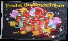 Flagge Frohe Weihnachten Bescherung - 90 x 150 cm