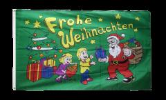 Flagge Frohe Weihnachten Geschenke - 90 x 150 cm