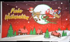 Flagge Frohe Weihnachten rot