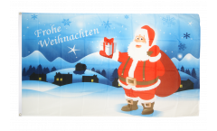 Flagge Frohe Weihnachten Schneelandschaft - 90 x 150 cm