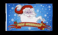 Flagge Frohe Weihnachten Weihnachtsmann - 90 x 150 cm