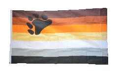 Flagge Gay Pride Bear - 90 x 150 cm