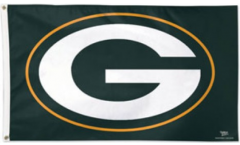 Flagge NFL Green Bay Packers Logo - 90 x 150 cm