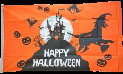 Flagge Happy Halloween orange