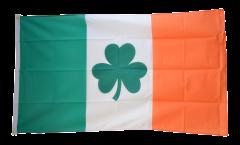 Flagge Irland mit Shamrock Symbol