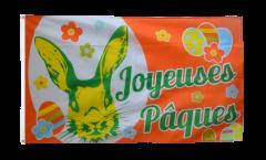 Flagge Joyeuses Pâques - Frohe Ostern - 90 x 150 cm