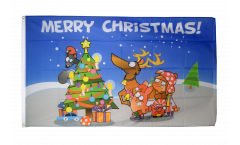 Flagge Merry Christmas bunt