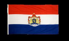 Flagge Niederlande mit Wappen - 90 x 150 cm