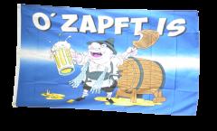 Flagge Oktoberfest O' Zapft is