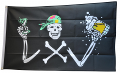 Flagge Pirat mit Bier - 90 x 150 cm