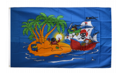 Flagge Pirat Piratenschiff - 90 x 150 cm
