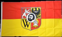 Flagge Polen Breslau - 90 x 150 cm