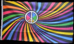 Flagge Regenbogen Peace Swirl