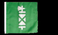Flagge Schweiz Kanton St. Gallen - 30 x 30 cm