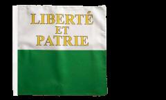 Flagge Schweiz Kanton Waadt - 30 x 30 cm
