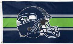 Flagge NFL Seattle Seahawks Helmet - 90 x 150 cm