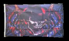 Flagge Totenkopf Südstaaten Cowboy - 90 x 150 cm