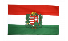 Flagge Ungarn mit Wappen
