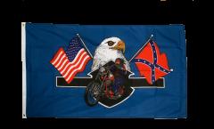 Flagge USA Highway Hero Biker - 90 x 150 cm