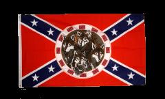 Flagge USA Südstaaten mit 4 Wölfen - 90 x 150 cm