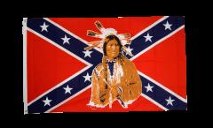 Flagge USA Südstaaten mit Indianer