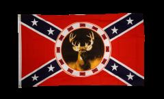 Flagge USA Südstaaten mit Reh
