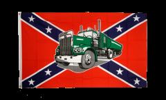 Flagge USA Südstaaten mit Truck