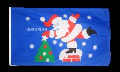 Flagge Weihnachtsmann HoHoHo - 90 x 150 cm