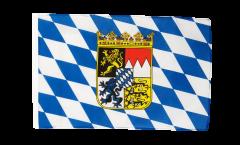 Flagge mit Hohlsaum Deutschland Bayern mit Wappen