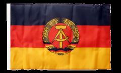 Flagge mit Hohlsaum Deutschland DDR