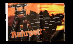 Flagge mit Hohlsaum Deutschland Ruhrpott Ruhrgebiet