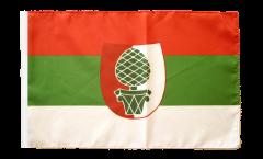 Flagge mit Hohlsaum Deutschland Stadt Augsburg