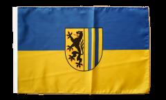 Flagge Deutschland Stadt Leipzig - 30 x 45 cm