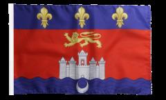 Flagge mit Hohlsaum Frankreich Bordeaux