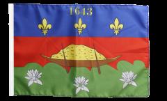 Flagge mit Hohlsaum Frankreich Französisch Guayana Cayenne
