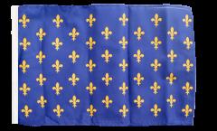 Flagge mit Hohlsaum Frankreich Lilienwappen, blau