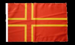 Flagge mit Hohlsaum Frankreich Normandie St. Olavs Kreuz