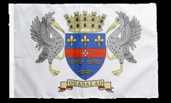 Flagge mit Hohlsaum Frankreich Saint-Barthélemy