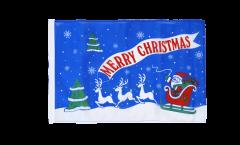 Flagge Merry Christmas Weihnachtsmann mit Schlitten - 30 x 45 cm