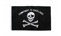 Flagge mit Hohlsaum Pirat Commitment to excellence