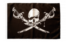 Flagge mit Hohlsaum Pirat mit Säbel