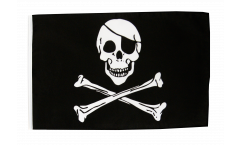 Flagge mit Hohlsaum Pirat Skull and Bones