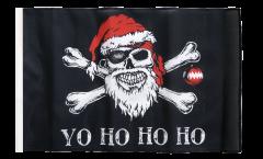 Flagge mit Hohlsaum Pirat Yo ho ho