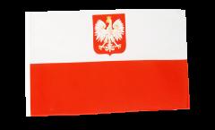 Flagge Polen mit Adler - 30 x 45 cm